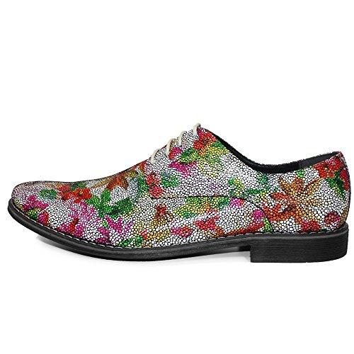PeppeShoes Modello LSD - Handmade Italiennes Cuir Pour des Hommes Coloré Chaussures Oxfords - Peau de Chèvre Cuir Souple - Lacer