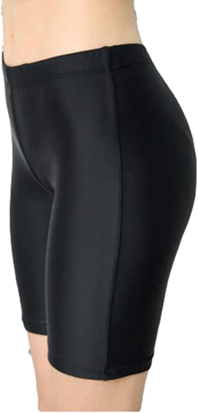 US 14-16 DecentGadget Womens Long Swim Shorts Bottoms High Waist Boardshorts Swimsuit Short Black XXLarge