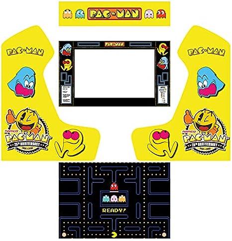 Vinilos máquina recreativa bartop arcade pacman: Amazon.es ...