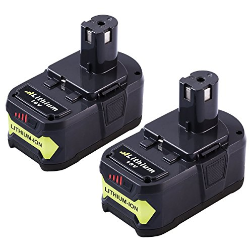 P108 4.0Ah Replacement for Ryobi 18V Lithium Battery Ryobi 18-Volt ONE+ P107 P104 P105 P102 P103 Cordless Power Tools - Pack of (18v Lithium Ion Battery)