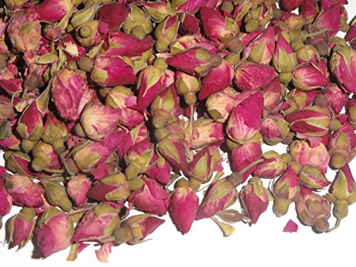 1 Oz. Miniature Chinese Rose Buds - Dried Tea Herb Flower Rosebuds (Herb Farm Rose)