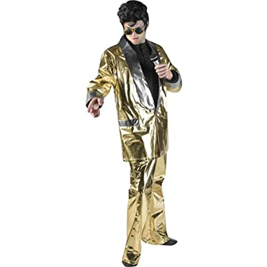 Menu0027s XXL Elvis Gold Theater Costume  sc 1 st  Amazon.com & Amazon.com: Menu0027s XXL Elvis Gold Theater Costume: Clothing