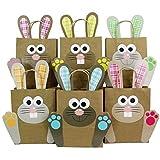 Sacchetti DIY con Coniglietto Pasquale XXL - Sacchetti pasquali Colorati da riempire a Piacere - Primavera - per confezionare Regali per Bambini e Adulti.