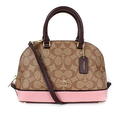6f413bcf439c Coach Colorblock Signature PVC Logo Mini Sierra Satchel Khaki Oxblood