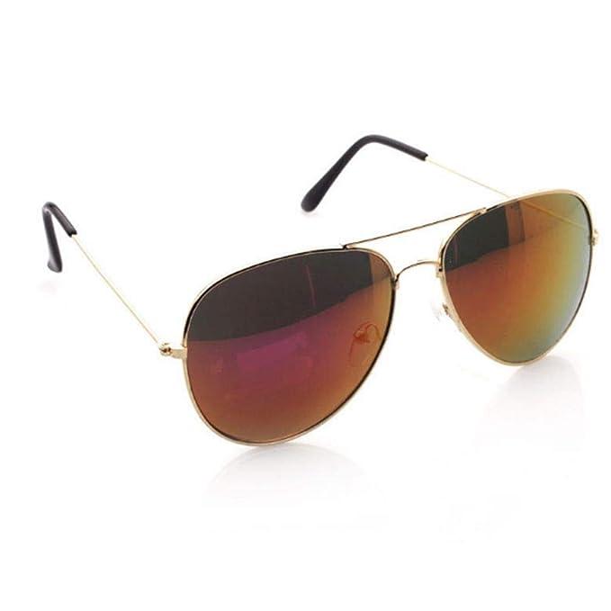 763d858d6c Gafas de sol Mujer Hombre Gafas de Protección al Aire Libre Gafas de  Protección UV para el Marco de Metal: Amazon.es: Ropa y accesorios