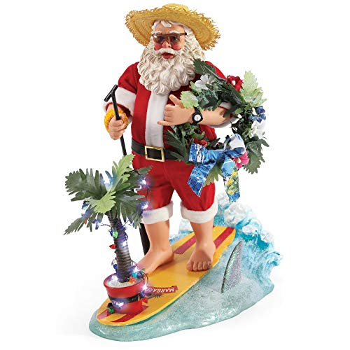 Department 56 Possible Dreams Santa Margaritaville YOLO Light Up Musical Figurine, 12.5 Inch, Multicolor (Possible Santas Department 56 Dreams)