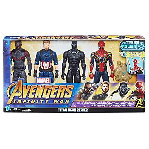 Marvel Avengers Infinity WAR Titan Hero Series, Falcon, Captain America, Black Panther, Iron ()