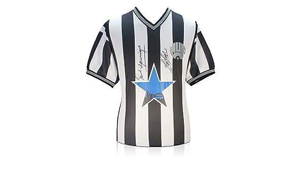 Kevin Keegan y Paul Gascoigne Firmado camiseta de Newcastle United ...