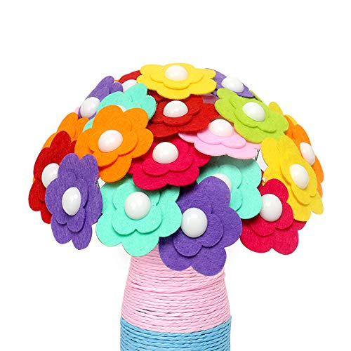 (LET'S GO! Creative Toys for Girls Age 5-14, DIMY DIY Handmade Flowers Bouquet Creative Children Christmas Birthday Gifts for Teen Girls 5-14 Oenothera)
