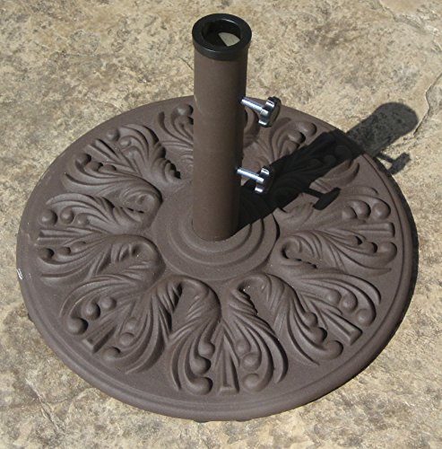 Galtech 75 LB Euro Deco Market Umbrella Base (Antique Bronze Finish) (Lb Base Patio 75 Umbrella)