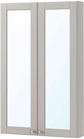 IKEA ASIA GODMORGON - Armario de Espejo con 2 Puertas, Color Gris ...