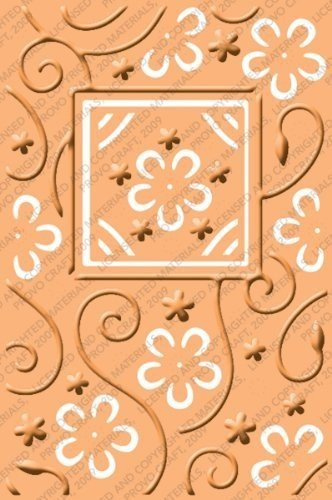 Cuttlebug Provo Craft Plus A2 Embossing Folder, Perfect Perennials