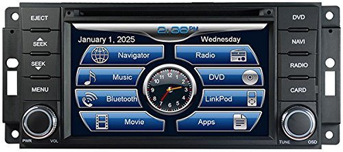 08 Deck (2007-2017 Jeep Wrangler In-Dash GPS Navigation DVD CD Player Bluetooth A2DP Audio Streaming 6.5 Inch Touchscreen FM AM Radio USB SD iPod-Ready iPhone-Ready Stereo Deck 07 08 09 10 11 12 13 14 15 16 17 JK AV Receiver)