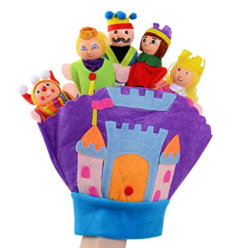 (Happy Cherry Finger Puppet Set Style School Puppet Set Family Cartoon Puppet Set Cute Cloth Hand Puppet Soft Mini Finger Dolls for Storytelling Role Playing)
