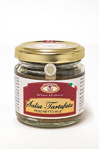 Truffle sauce 80g - Ingredients: mushrooms, summer truffles 10%, extra virgin olive oil, black olives, vegetables, anchovies, spices, pepper, salt and aromas - (DF13)