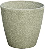 Stone Light SL Series Cast Stone Round Planter, 24-Inch, Limestone