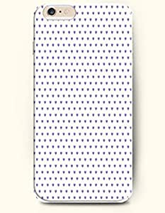 Case For HTC One M7 Cover with Design of Purple Regularly Spaced HeaPolka Dot Series -OOFIT Authentic