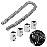 """48"""" Stainless Steel Radiator Flexible Coolant Water Hose Kit With Caps Universal"""