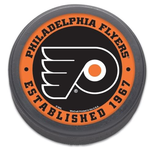 (WinCraft NHL Philadelphia Flyers Hockey Puck)