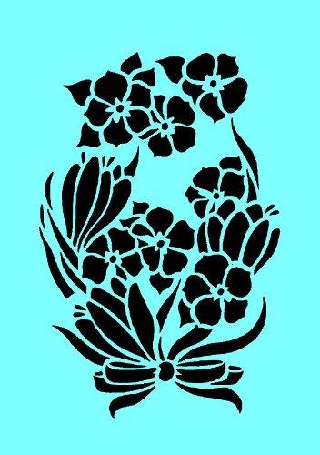 Aerografo con 3 fiori, da parete, per pittura,-Carta per Stencil riutilizzabile 125 micron cfsupplies