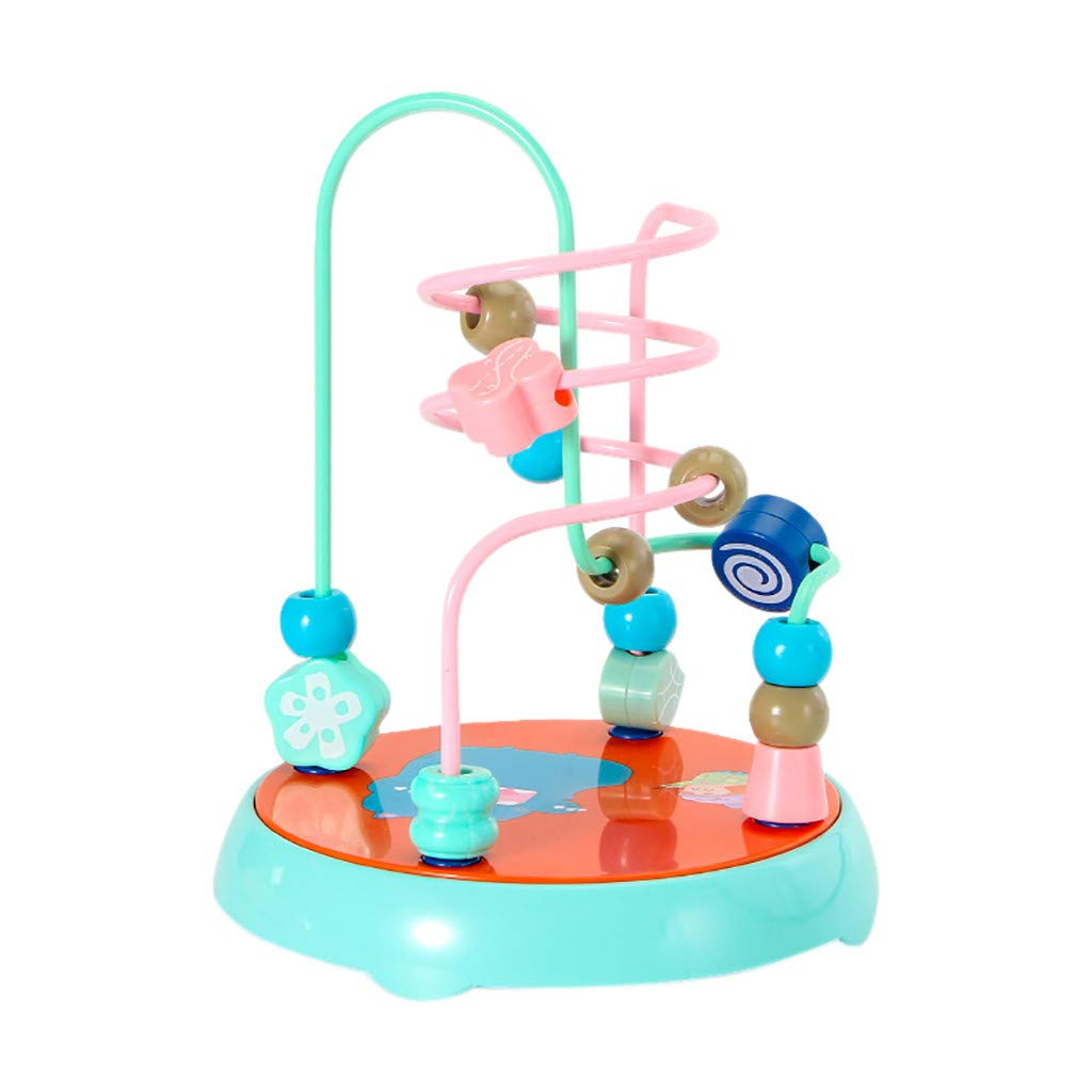 JAWM ビーズ 迷路 ローラー コースター 教育玩具 幼児用 新生児 赤ちゃん カラフル スムーズ ABS ミニアラウンドビーズ 知育ゲーム おもちゃ B07QBZN97N