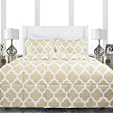 Alternative Comforter - Sleep Restoration Luxury Goose Down Alternative Quatrefoil Comforter - Premium Hypoallergenic All Season Duvet - Full/Queen - Ivory
