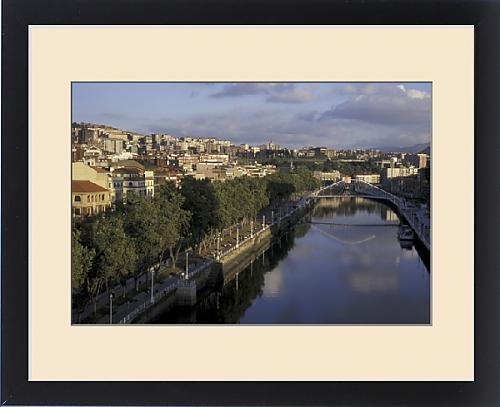 Framed Print of Europe, Spain, Bilbao, Ria Bilbao by Fine Art Storehouse