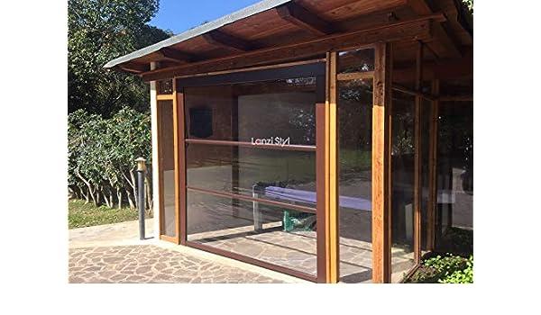 Mosquitera cierres para porches y techos – Cortina de PVC transparente: Amazon.es: Jardín