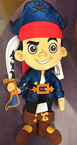 Disney Parks Jake and the Neverland Pirates 12 inch Plush Doll NEW (Peter Pan Jake And The Neverland Pirates)