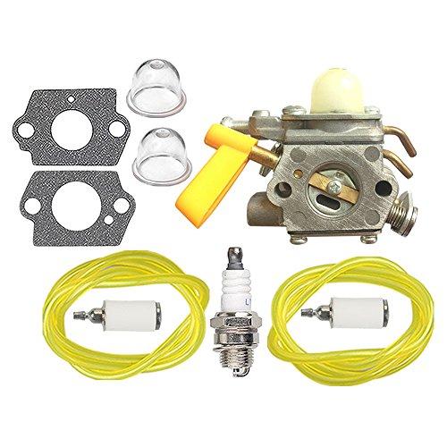 HIPA 308054004 Carburetor + Fuel Line Spark Plug for Ryobi R