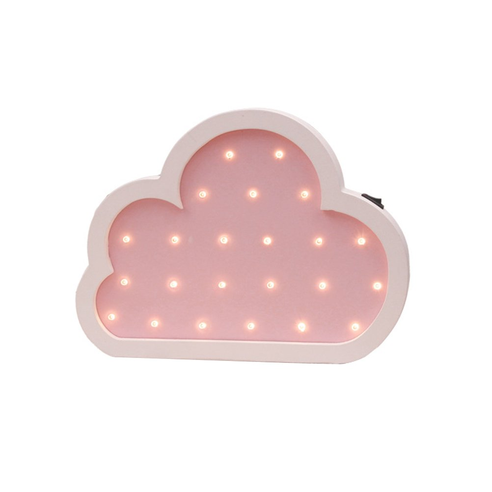ledmomoクラウドCuteナイトライト電池式クラウドランプBaby Nurseryランプfor Childrenベッドルーム、壁装飾用(ピンク) B07B8L6CS9 13785