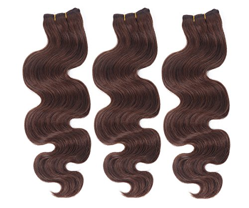 """Mike & Mary New Human Hair Weaves 3 Bundles 300g Body Wave Remy Human Hair Extensions (26"""", #4)"""