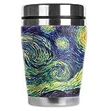 "Mugzie Van Gogh Starry Night ""Mini"" Travel Mug with Insulated Wetsuit Cover, 12 oz, Black"