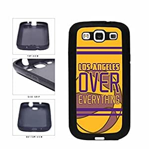 Kingsface Los Angeles Purple and Gold Over Everything TPU RUBBER SILICONE cell phone case cover Back Cover Samsung Galaxy fSNmzacKulC S3 I9300