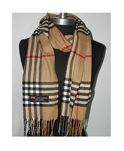 Camel_(US Seller)Scarves 12x72 Plaid MADE IN SCOTLAND - - Sunglasses Fast Womens For Track