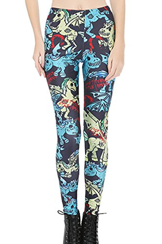 COCOLEGGINGS Womens Digital Design Leggings Regular