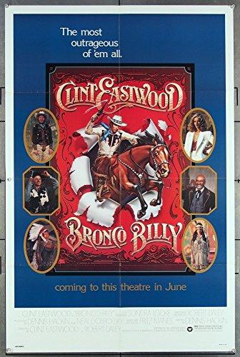 Bronco Billy (1980) Authentic U.S. One-Sheet Movie Poster TEASER OR ADVANCE STYLE CLINT EASTWOOD SONDRA LOCKE SCATMAN CROTHERS SAM BOTTOMS DAN VADIS SIERRA PECHEUR HANK WORDEN Dim Directed by CLINT EASTWOOD