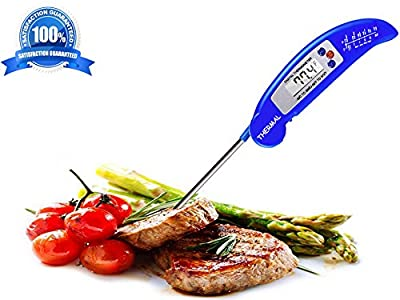 THERMAL Instant Read Digital Meat Thermometer - LATEST MODEL with Magnet & Calibration Feature - Best Food Thermometer with Collapsible Long Probe - Suitable for Cooking, Baking, Grill, BBQ & Liquid.