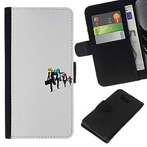 NEECELL GIFT forCITY // Billetera de cuero Caso Cubierta de protección Carcasa / Leather Wallet Case for Samsung ALPHA G850 // Embalse perro sonriente divertido