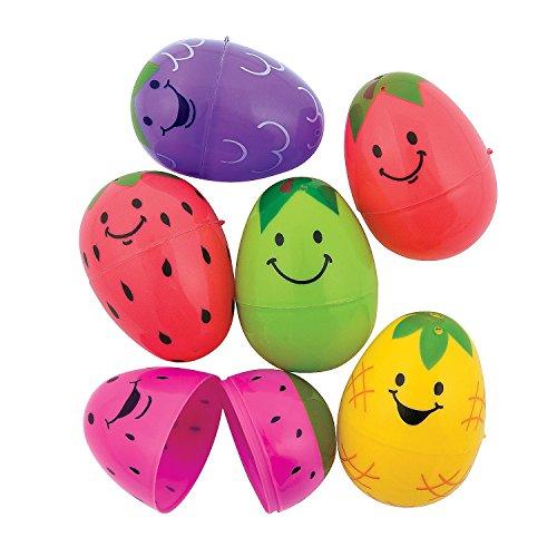 Bright Fruit Plastic Easter Eggs (48 Pieces) 2 1/2