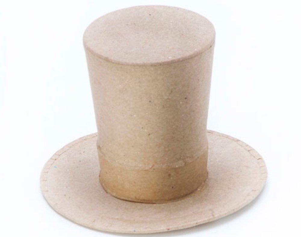 Mini Paper Mache Top Hat Shape to Decorate Papier Mache Shapes 9cmx6cm