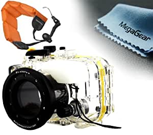 MegaGear 130ft 40m Underwater Waterproof case Housing with Floating Wrist Strap for SONY DSC-RX100 RX100 Camera
