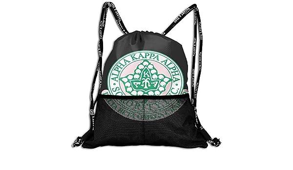 Alpha Kappa Alpha Unisex Drawstring Casual Rucksack with Mesh Beam Backpack Bag: Amazon.es: Equipaje