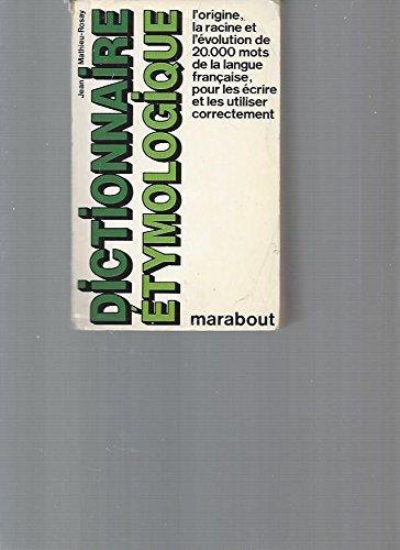 Dictionnaire etymologique marabout