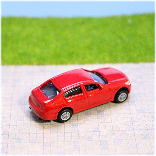 Building model 1/100 Minicar Red Diecast Car
