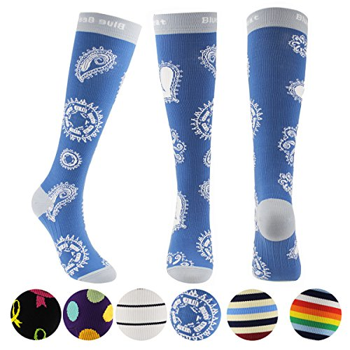 duated Compression Socks for Women for Flight Travel , Running , Fitness, Nursing and Pregnancy- 15-20 mmHg (Junior Trail Socks)