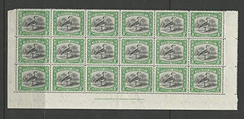 South West Africa Postage Stamp, 108 Block Mint NH, 1931, 9 Pairs, DKZ