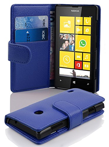 Cadorabo - Book Style Wallet Design for Nokia Lumia 520 with 2 Card Slots and Money Pouch - Etui Case Cover Protection in NAVY-BLUE
