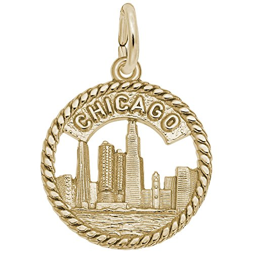 Rembrandt Charms, Chicago Skyline, 22k Yellow Gold
