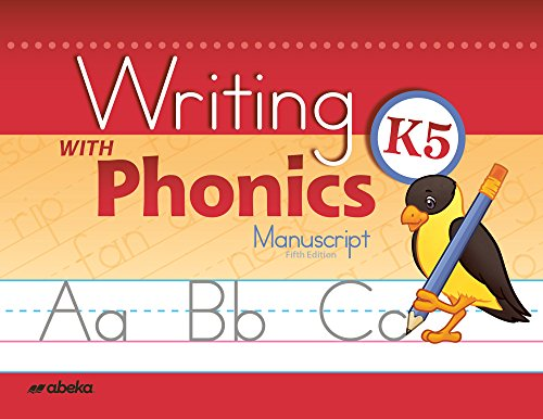 Writing with Phonics K5 Manuscript by Abeka